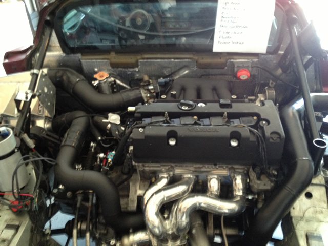 Lotus Elise K20 Turbo Engine Bay